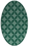 rug #252193 | oval blue-green circles rug