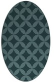 rug #252209 | oval blue-green circles rug