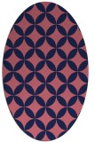 rug #252229 | oval pink circles rug