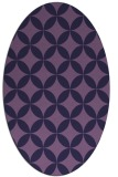 rug #252233 | oval blue-violet circles rug
