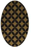 rug #252253 | oval black circles rug