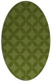 rug #252261 | oval green circles rug