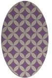 rug #252317 | oval purple circles rug
