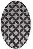 rug #252337 | oval orange circles rug