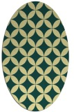 rug #252341 | oval yellow traditional rug