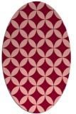 rug #252356 | oval geometry rug