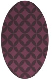 rug #252361 | oval purple geometry rug