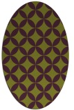 rug #252365 | oval purple traditional rug