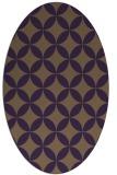rug #252369   oval purple traditional rug