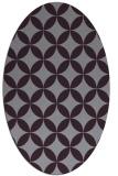 rug #252373 | oval purple traditional rug