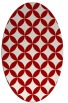 rug #252377 | oval red traditional rug