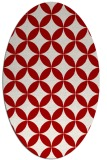 rug #252377 | oval red circles rug