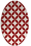 rug #252385   oval red circles rug