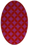 rug #252389 | oval red traditional rug