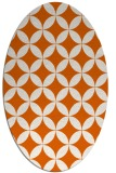 rug #252405 | oval red-orange geometry rug