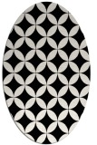 rug #252409 | oval black traditional rug