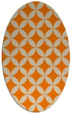 rug #252453 | oval beige geometry rug