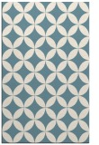 rug #252513 |  blue-green circles rug