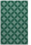 rug #252545    blue-green circles rug