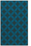 rug #252565 |  blue-green circles rug