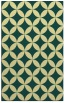 rug #252693 |  blue-green circles rug
