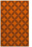 rug #252753 |  red-orange circles rug
