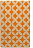rug #252805 |  orange circles rug