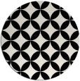 rug #252845 | round black rug