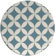 rug #252865 | round blue-green geometry rug