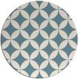 rug #252865 | round white geometry rug