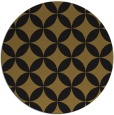 rug #252957 | round black traditional rug