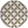 rug #252981 | round mid-brown rug