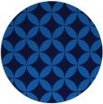 rug #253009 | round blue circles rug