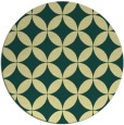rug #253045 | round yellow circles rug