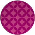 rug #253049 | round pink traditional rug