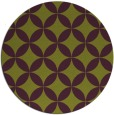rug #253069 | round green circles rug