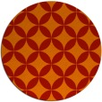 rug #253085 | round red traditional rug