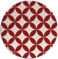 rug #253089 | round red circles rug
