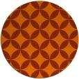 rug #253097   round red-orange traditional rug