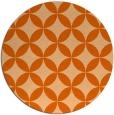 rug #253101 | round red-orange circles rug