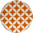 rug #253109 | round red-orange circles rug