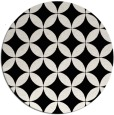 rug #253113 | round white traditional rug