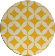 rug #253129 | round yellow circles rug