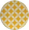 rug #253129 | round yellow geometry rug