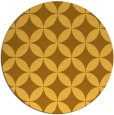 rug #253145 | round light-orange traditional rug