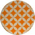 rug #253157 | round orange traditional rug