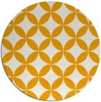 rug #253177 | round light-orange geometry rug
