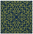 rug #253581 | square green traditional rug