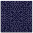 rug #253629 | square blue-violet damask rug