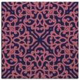 rug #253637 | square pink damask rug